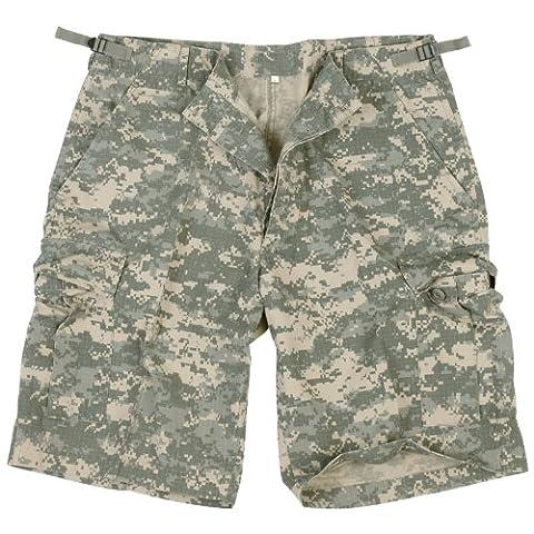 US Army Combat Cargo Military Mens Shorts Ripstop ACU Digital Camo