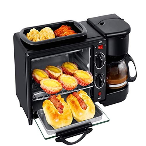 Bread maker Multi-Function-Frühstücksmaschine, 1050w Home Three-In-One Coffee Toaster, Mini Electric Oven Omelette