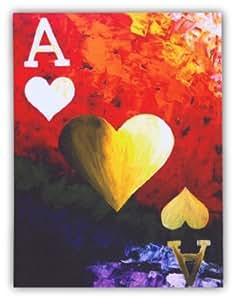 Tableau sur toile imprimée déco poker As