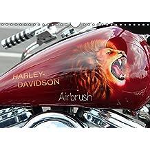 Harley Davidson - Airbrush (Wandkalender 2017 DIN A4 quer): Amerikas Motorradlegende Nr.1 (Monatskalender, 14 Seiten ) (CALVENDO Kunst)