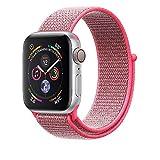 Corki für Apple Watch Armband 38mm 40mm, Weiches Nylon Ersatz Uhrenarmband für iWatch Apple Watch Series 4 (44mm), Series 3/ Series 2/ Series 1 (42mm), Hot Pink
