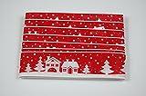 Fibula[Style]® Komplettset Rehlein Rieke Stilvolle Komplette Tischdekoration für Weihnachten/Advent/Winter für ca. 8-10 Personen in Rot-Weiß - 4