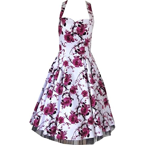 Pretty Kitty Fashion -  Vestito  - Floreale - Senza maniche  - Donna