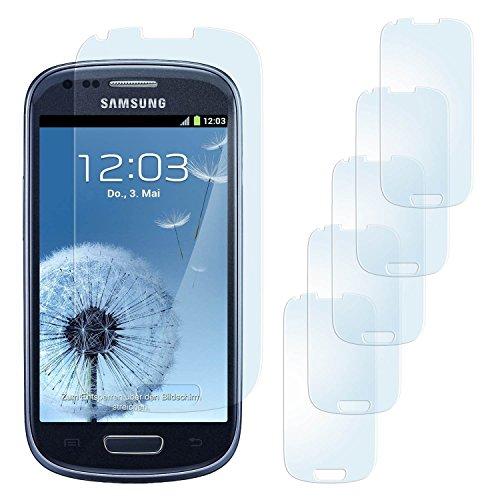 5x Samsung Galaxy S3 Mini Schutzfolie Matt Display Schutz [Anti-Reflex] Screen protector Fingerprint Handy-Folie matte Displayschutz-Folie für Samsung Galaxy S3 Mini S III Displayfolie - Bildschirm gewölbt, Folie bewusst kleiner