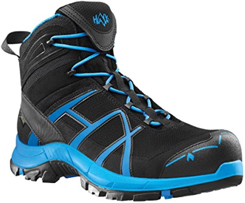 HAIXreg Black Eagle Safety 40 Mid black/blue. Moderner S3 Sicherheitsschuh in schwarz/blau