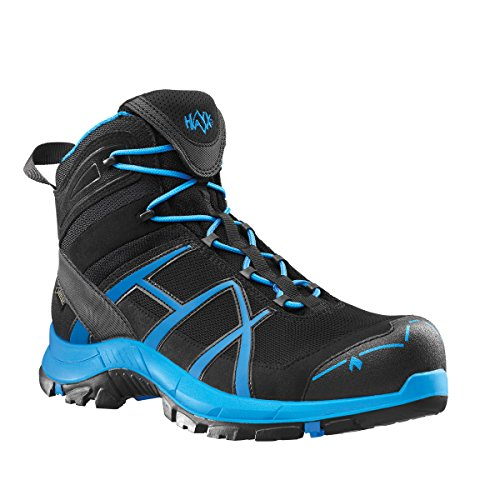 HAIX® Black Eagle Safety 40 Mid black/blue. Moderner S3-Sicherheitsschuh in schwarz/blau