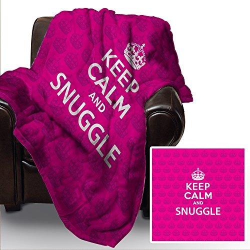 pink-keep-calm-and-snuggle-design-weich-fleece-decke-deckel-berwurf-sofabett-decke