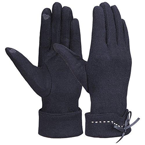Magic Zone Damen Touchscreen Handschuhe Winter dicke warme gefüttert smart schreiben Handschuhe (Dehnbare Magic-handschuhe)
