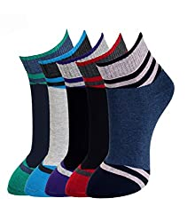 MARC ASSORTED DESIGN MENS COTTON ANKLE 5 PAIRS SOCKS PACK