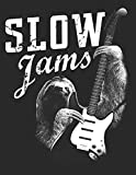 Slow Jams Guitar Ukulele Tabs Blank Notebook: Funny Sloth Vintage Tablature Tab Paper Journal - Composing and Writing Ukulele Or Guitar Music Sheet, ... Songwriting Paper Records, Chord Book