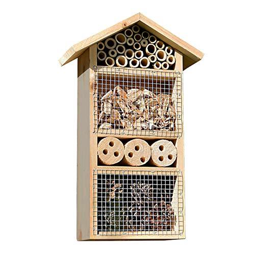 Monsterzeug Insektenhotel mit Vogelschutz, Nistkasten, Nisthilfe, Überwinterungshilfe, Insektenvilla