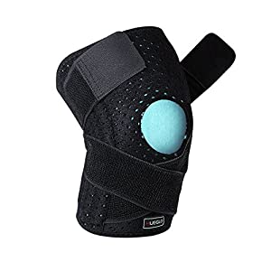Knee Supports Knee Brace Support Straps Breathable Double Patella Tendon Brace Support Band Adjustable Neoprene Knee Pain Relief with Silicone Pad for Joint Pain, Running, Arthritis, Jumper, Tennis Black(1 Piece),12'' - 18'' …