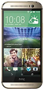 HTC One 2014 (M8) Smartphone débloqué 4G (Ecran: 5 pouces - 16 Go - Android 4.4 KitKat) Or , 146.36 x 70.6 x 9.35 mm