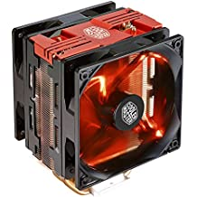 Cooler Master Hyper 212 LED Turbo Procesador Enfriador - Ventilador de PC (Procesador, Enfriador, 12 cm, Socket AM2, Socket AM3, Socket AM3, Socket AM3+, Socket AM4, Socket FM1, Socket FM2, Socket FM2+,..., 600 RPM, 1200 RPM)