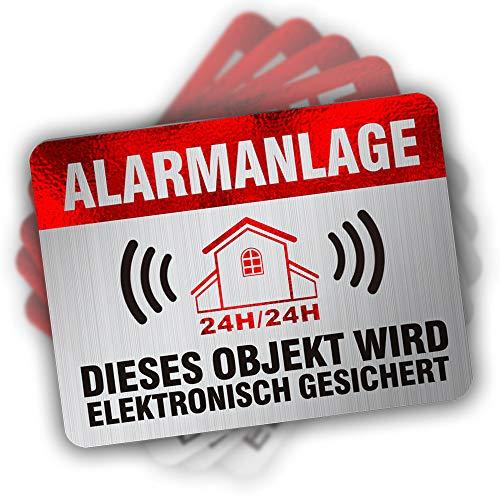 Alarmanlage Aufkleber Alarmgesichert Haus Alarmaufkleber