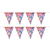 My Planet Premium Quality 24 x Girls Pink Happy Birthday Card Pennant Flag Bunting Indoor/Outdoor Party Decoration Huge 10m Banner