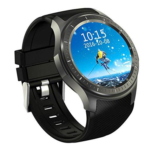 HHRONG DM368 Smart Uhr AMOLED Volle Runde Bildschirm Android 5.1 WIFI/GPS/3G Anruf/Herzfrequenz-Überwachung Bluetooth Schrittzähler Laufschritte Kalorien Zähler für Männer und Frauen