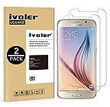 [Lot de 2] Samsung Galaxy S6 Protection écran, iVoler® Film Protection d'écran en Verre Trempé Glass Screen Protector Vitre Tempered pour Samsung Galaxy S6- Dureté 9H, Ultra-mince 0.20 mm, 2.5D Bords Arrondis- Anti-rayure, Anti-traces de doigts,Haute-ré