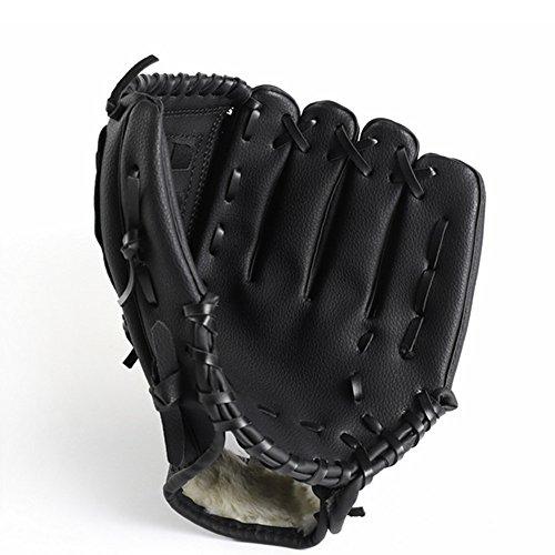 Yxaomite Baseball Handschuhe Krug Handschuhe Outdoor Leder Erwachsene für Senior Junior Kinder Softball Batting Handschuhe Sport Field Master Series-Schwarz-L -
