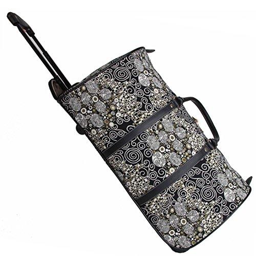 Signare fourre-tout à roulettes tapisserie/ bagage à roulettes et poignée rétractable Gustav Klimt (le baiser)