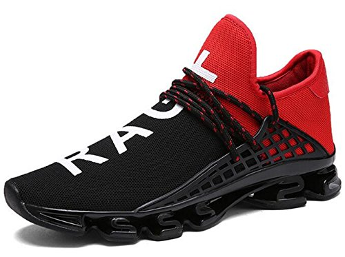 DADAWEN Chaussures de Running Entrainement pour adulte Rouge