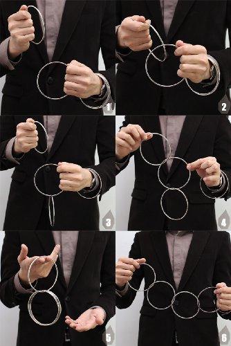 niceeshopTM-Nahe-Zaubertrick-Requisit-4-Verbunden-Ring