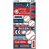 All Star Baseball Cardstock Stickers-