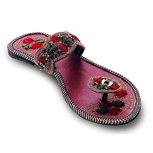 2dots femmes de travail Étui katdana élégant Plat jodhpuri chappal multicouleur - Multi-color