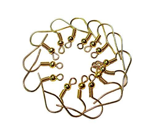 100 Ohrhaken Fischhaken Ohrhänger Ohrfedern Ohrring Haken Gold Geralin Gioielli