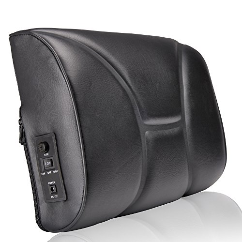 Luxfit supporto lombare cuscino massaggiante Shiatsu Deep Kneading cuscino per sedia auto casa e ufficio schienale massaggiatore