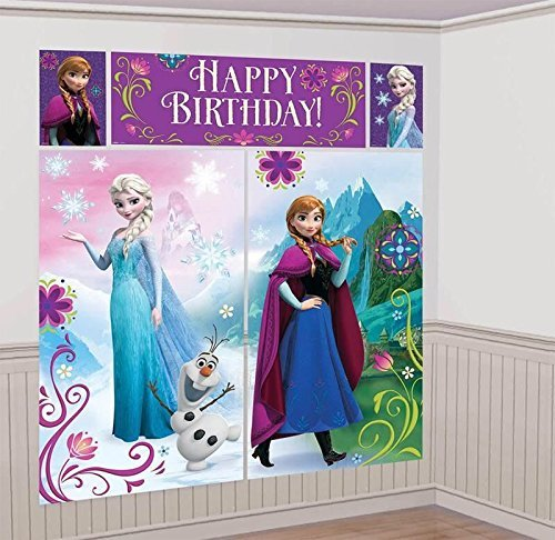 Disney's Frozen Scene Setters Wall Banner Decorating Kit Birthday Party Supplies by Disney by Disney