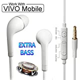 #7: Vivo V5, Vivo V5 Plus, Vivo Y53, Vivo V5s, Vivo Y66, Vivo Y51L, Vivo Y55L, Vivo V3, Vivo Y55S, Vivo Y21, Vivo Y21L, Vivo V3 Max, Vivo Y28, Vivo Y31L, Vivo V1, Vivo Y31, Vivo V1 Max, Vivo Y27L, Vivo Y22, Vivo Y15S, Vivo X5 Pro Earphones Original Like Headsets In- Ear Headphones | Handsfree With Mic, Calling, Music, 3.5mm Jack -White
