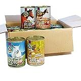 Schecker Dogreform, Pur, 11-er sensitiv 10 x 410g-Dosen + 1 x 200 g 100% Fleisch pur auch für sehr empfindliche Hunde geeignet frei von billigen Füllstoffen ohne Farb und Konservierungsstoffe