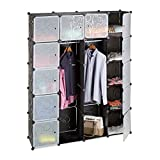 Relaxdays Kleiderschrank Stecksystem mit 2 Kleiderstangen