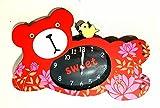 sweet bear Kinder- Wecker -Uhr/Kinderwecker Glockenwecker - analog - mit süßem Bären Motiv in rot