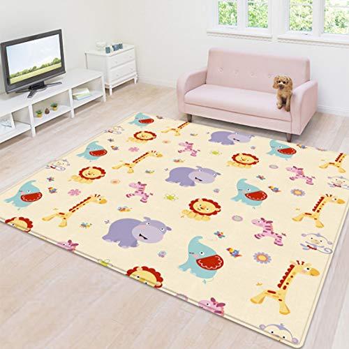 Yavso Alfombra Infantil, 200 x 180 x 1 cm Alfombra de Juegos para Bebé No-tóxico Impermeable Alfombras para Infantiles Niños
