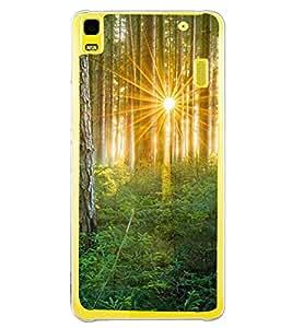 Printvisa Forest Sunrise Pic Back Case Cover for Lenovo K3 Note::Lenovo A7000