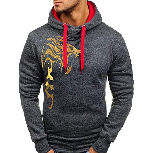 UOMOGO Uomo Felpe con Cappuccio Pullover con Tasche Hooded Rapper Felpa Giacca Sweatshirt Ragazzo Abbigliamento da Esterno