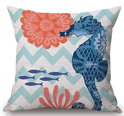 LULABE Animal Sea Turtle Wall Decorative Pillowcase Throw Pillow Cushion Cover Square Home Life ¡­ (7) for Couch Sofa Or Bed Set Cozy Home Decor Size:18 X 18 Inches/45cm x 45cm -