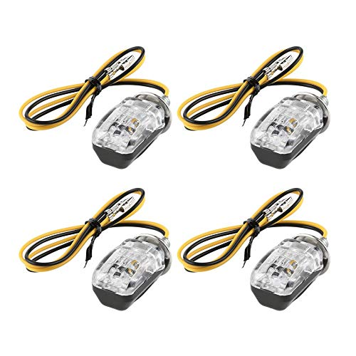 4x Metal Plating Motorbike Turn Signal Indicator Light For Harley Chopper Cafe Good Quality With Metal Body Price Remains Stable Accessories