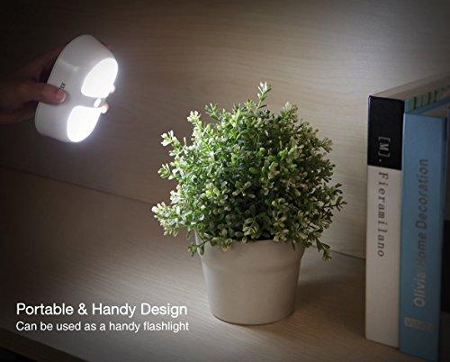 AVANTEK LED Nachtlicht mit Bewegungsmelder und 10 LED, Batteriebetriebene Drahtlose Nachtleuchte Nachtlampe, Oval -