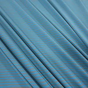 Tissu au mètre en jersey bouclé rayée jersey bleu gris