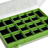 Matt Hayes Adventure magnetisch doppelseitig (42Segmente) Angeln Haken Aufbewahrungsbox für Metallic Tackle Bits–14,5x 12x 2cm–große auch für Wirbel, Clips und Ringe [19mh-21]