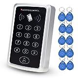 LIBO 125 kHz RFID Standalone Zutrittskontrolle Tastatur EM Kartenleser mit 10 Schlüsselanhänger Tür Keyless Lock Für Eintrag Sicherheitssystem