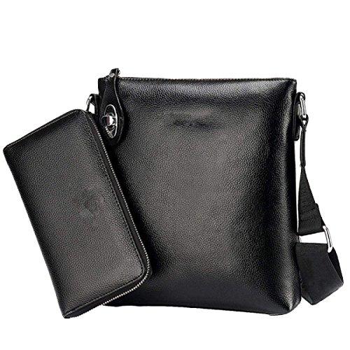 Schulterbeutel Der Männer Koreanisches Beiläufiges Schiefes Paket Großkapazitäts-Aktenpaket Beiläufig,Black-OneSize