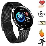 Bluetooth Smartwatch - impermeabile IP68 Bracciale con contapassi/Monitor battito cardiaco...