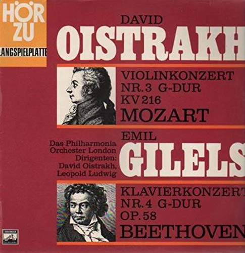 Mozart: Violinkonzert Nr. 3 G-dur, KV 216 / Beethoven: Klavierkonzert Nr. 4 G-dur Op. 58 [Vinyl LP] [Schallplatte]