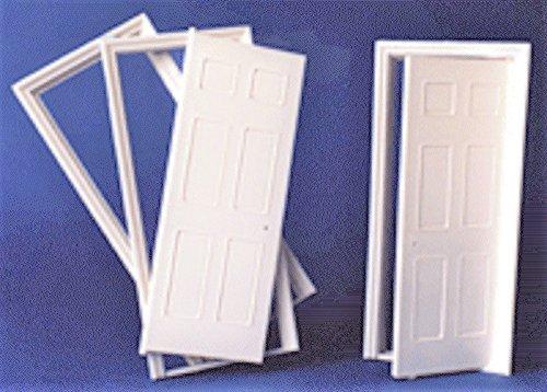 melody-jane-dolls-house-white-plastic-6-panel-interior-door-builders-diy-124-scale