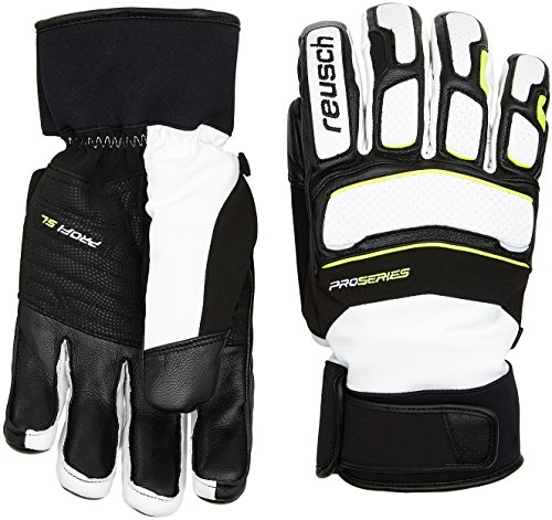 Reusch Herren Profi SL Handschuhe, White/Neon Yellow, 10