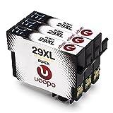 Uoopo Compatible Reemplazo para Epson 29XL Multipack Negro Cartuchos de tinta para Epson Expression Home XP-235 XP-332 XP-342 XP-435 XP-245 XP-247 XP-335 XP-345 XP-432 XP-442 XP-445 Impresora